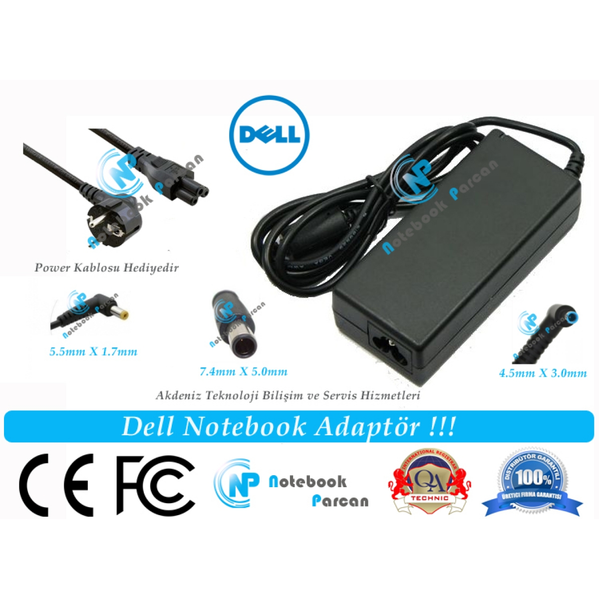 19.5V 4.62A Dell Latitude D631 Adaptör Laptop Ş