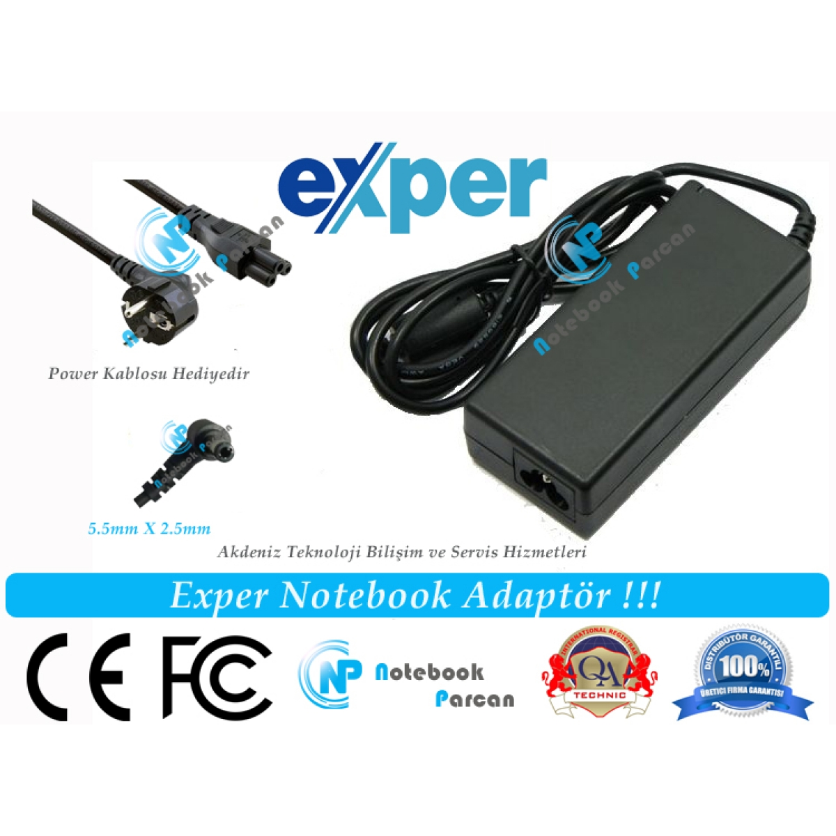 Exper E5128 Adaptör Laptop Şarj