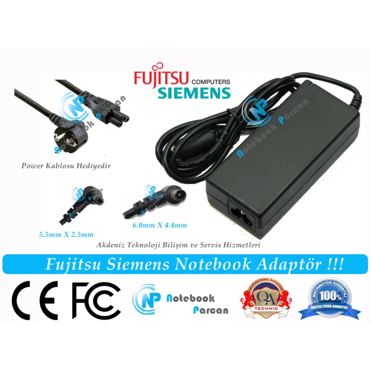 Fujitsu 16V 3.75A 60W Adaptör Şarj Aleti Pinli U