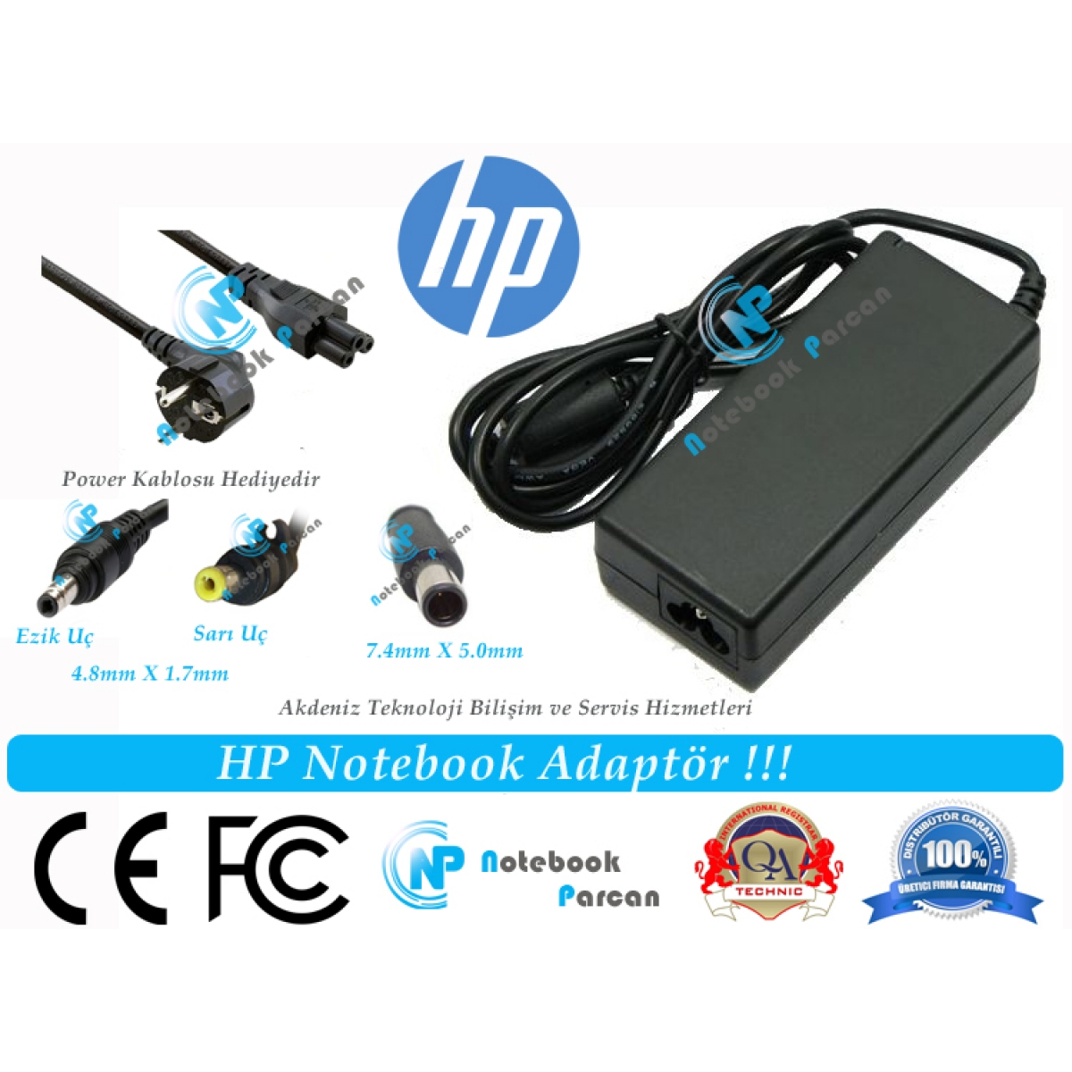 18.5V 3.5A DC359A SERİSİ HP LAPTOP ADAPTÖR