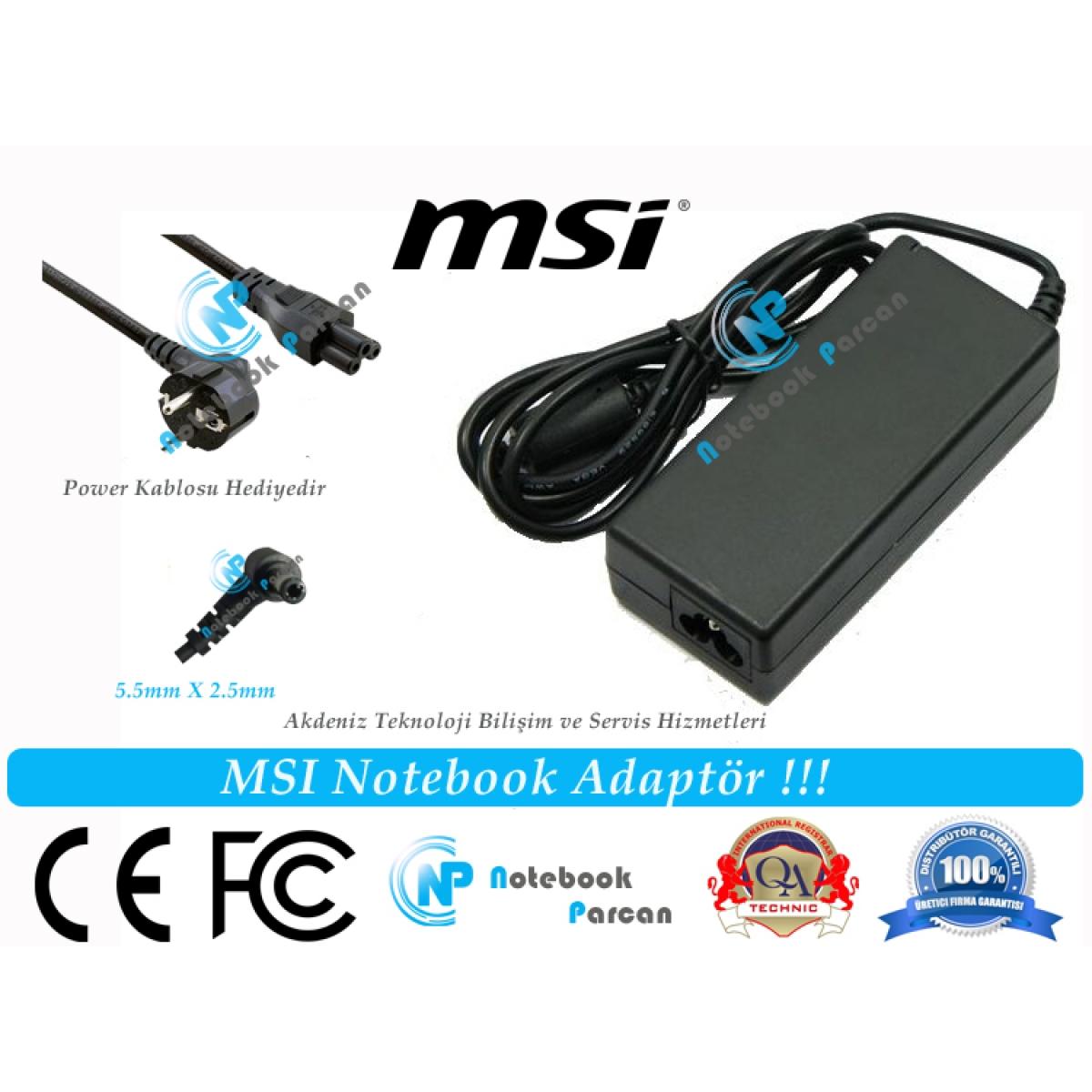 MSI 3M-032TR Adaptör Laptop Şarj